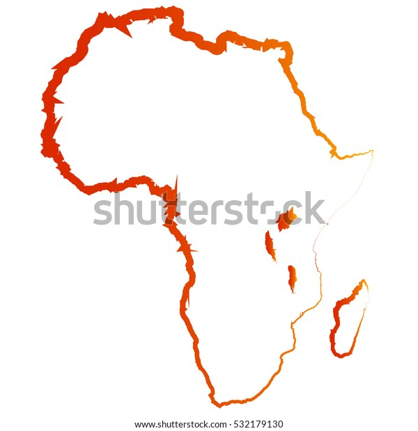 Map Of Africa Drawing.Original Drawing Map Africa Abstract Vector Stock Vector Royalty
