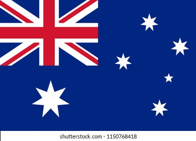 The Original Flag of Australia,Vector Illustration The Color of the Original, Official Colors and Proportion Correctly,Correct Size, Isolate White Background Label .EPS10