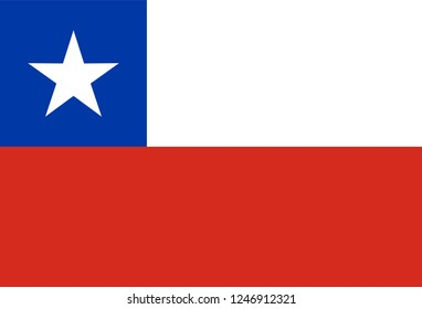 Original flag of Chile, vector illustration of chilean national symbol for Travel company