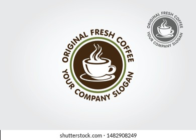 Original Fresh Coffee logo template are ideal for showing off your cafe, restaurant, dinner, catering etc.