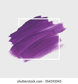 Original grunge brush paint texture design acrylic stroke poster over square frame vector. Original rough paper hand crafted vector. Perfect design for headline, logo and banner.