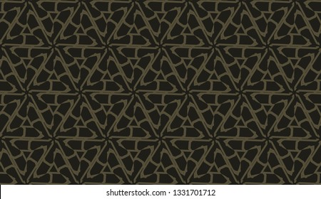 Original interior background in triangles style. Vector illustration. For modern interior design, fashion print.