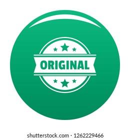 Original logo. Simple illustration of original vector logo for any design green