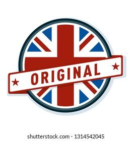 Original Made in United Kingdom label illustration