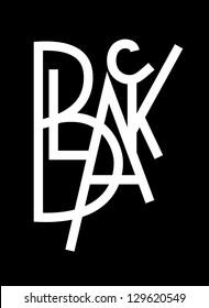 original modern hand lettering composition BLACK