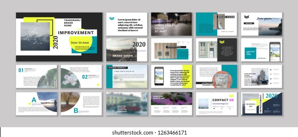 Original Modern Presentation templates or booklet. Easy Use in flyer and style info banner, trendy strategy mockup. Creative Slideshow or Startup. ppt.
