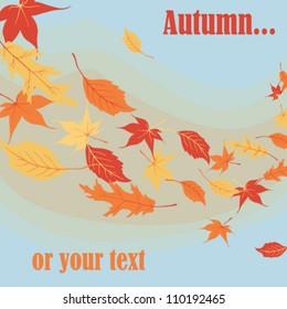 original post card  with autumn theme