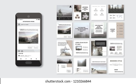 Original Presentation templates or corporate booklet. Easy Use in creative flyer and style info banner, trendy strategy mockups. Simple modern Slideshow or Startup.