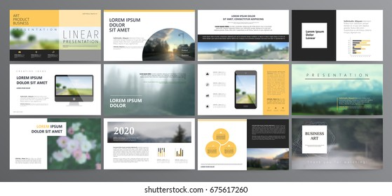 Original Presentation templates or corporate booklet.  Easy Use in creative flyer and style info banner, trendy strategy mockups.  Simple modern Slideshow or Startup. ppt.