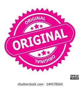 Original rubber stamp sign-eps10 vector