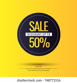 Original sale poster for discount. Vector illustration