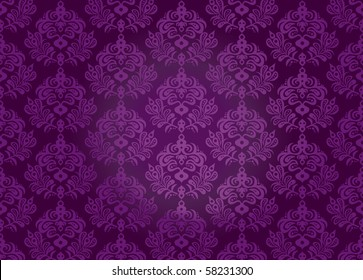 Original seamless vector pattern on a purple background