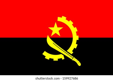 original and simple of the Angola flag isolated vector in official colors and Proportion Correctly