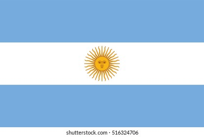 original and simple Argentina flag isolated vector in official colors and Proportion Correctly.