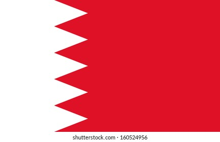 original and simple Bahrain flag isolated vector in official colors and Proportion Correctly