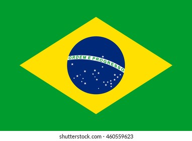 original and simple Brazil flag isolated vector in official colors and proportion