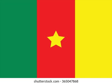 Original and simple Cameroon flag isolated vector in official colors