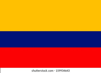original and simple Colombia flag isolated vector in official colors and Proportion Correctly