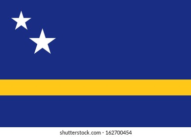 original and simple Curacao flag isolated vector in official colors and Proportion Correctly