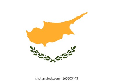 original and simple Cyprus flag isolated vector in official colors and Proportion Correctly