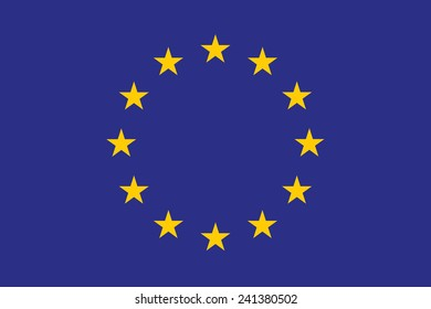 original and simple Europe flag (EU) isolated vector in official colors and Proportion Correctly. High quality