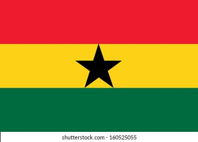 original and simple Ghana flag isolated vector in official colors and Proportion Correctly