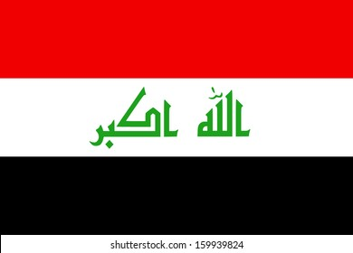 original and simple Iraq flag 2008 - present isolated vector in official colors and Proportion Correctly