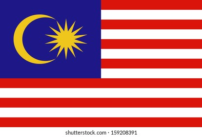 original and simple Malaysia flag isolated vector in official colors  and Proportion Correctly The Malaysia is a member of Asean Economic Community (AEC)