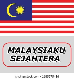 original and simple Malaysia flag isolated vector in official colors and Proportion Correctly The Malaysia is a member of Asean Economic Community (AEC). with text