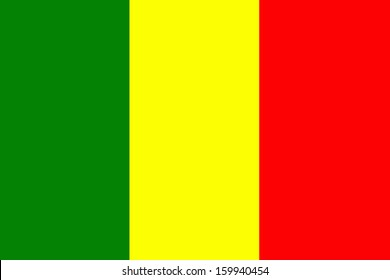 original and simple Mali flag isolated vector in official colors and Proportion Correctly