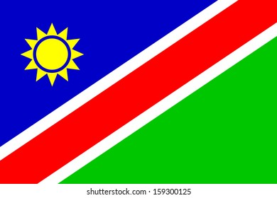 original and simple Namibia flag isolated vector in official colors  and Proportion Correctly