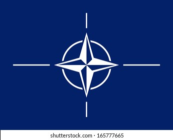 original and simple North Atlantic Treaty Organization (NATO) flag  isolated vector in official colors and Proportion Correctly