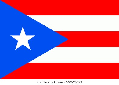 original and simple Puerto Rico flag isolated vector in official colors and Proportion Correctly