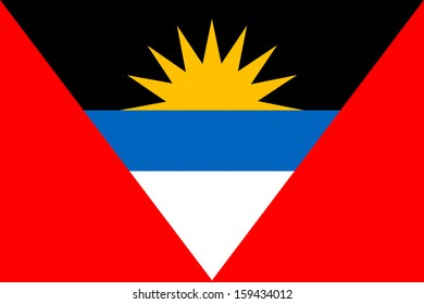 original and simple Republic of The Antigue and Barbuda flag isolated vector in official colors and Proportion Correctly