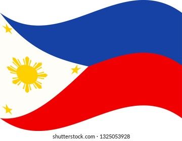 original and simple Republic of The Philippines flag isolated in official colors and Proportion CorrectlyThe Philippines is a member of Asean Economic Community, AEC