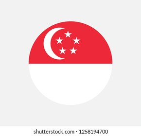 original and simple Republic of Singapore flag isolated vector in official colors and Proportion Correctly The Singapore is a member of Asean Economic Community (AEC) .national flag of Singapore.