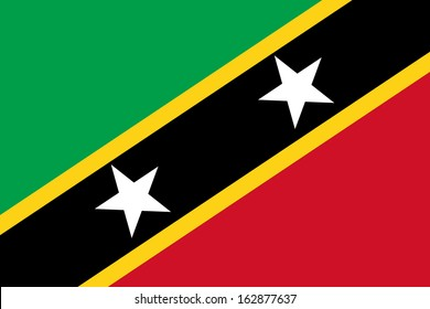 original and simple Saint Kitts and Nevis flag isolated vector in official colors and Proportion Correctly