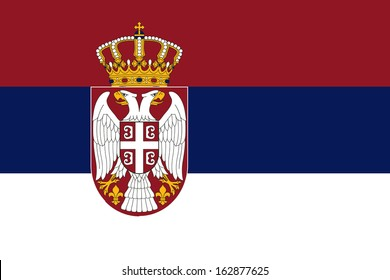 original and simple Serbia flag isolated vector in official colors and Proportion Correctly