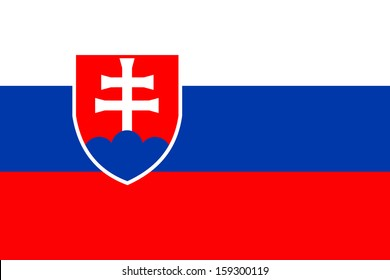 original and simple Slovakia flag isolated vector in official colors  and Proportion Correctly