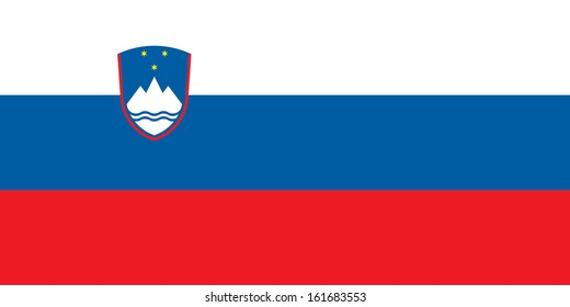 original and simple Slovenia flag isolated vector in official colors and Proportion Correctly