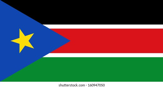 original and simple  South Sudan (SABC) flag isolated vector in official colors and Proportion Correctly