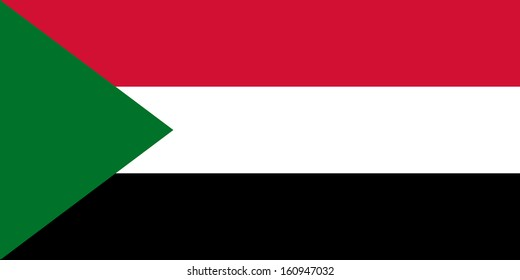 original and simple Sudan flag isolated vector in official colors and Proportion Correctly