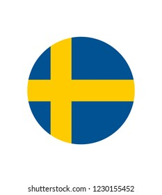 original and simple Sweden flag isolated vector in official colors and Proportion Correctly. Flag of Sweden. Vector illustration. The color of the original.