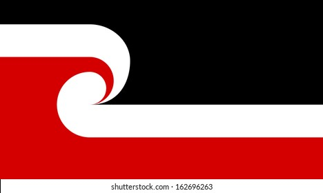 original and simple Tino Rangatiratanga Maori sovereignty movement flag isolated vector in official colors and Proportion Correctly