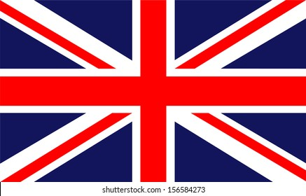 Original And Simple United Kingdom England Flag Isolated Vector In Official Colors Proportion Correctly