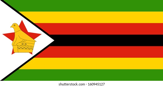 original and simple Zimbabwe flag isolated vector in official colors and Proportion Correctly