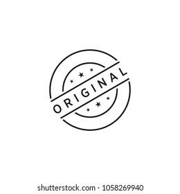 Original stamp icon symbol