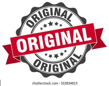 original. stamp. sticker. seal. round grunge vintage ribbon original sign