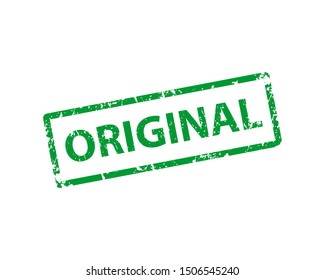 Original stamp vector texture. Rubber cliche imprint. Web or print design element for sign, sticker, label