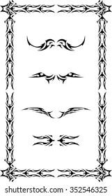tattoo frame images stock photos vectors shutterstock. Black Bedroom Furniture Sets. Home Design Ideas